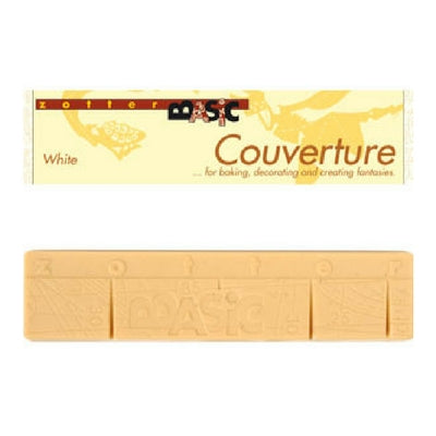 zotter white chocolate couverture 130g