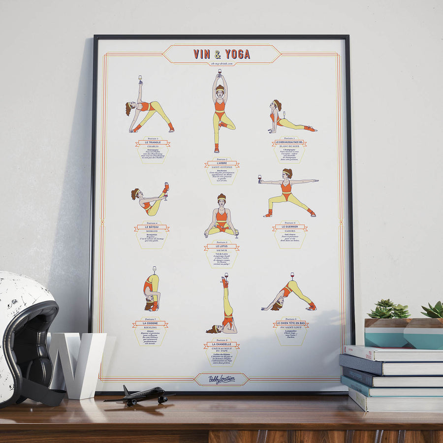 Wine and Yoga Poster