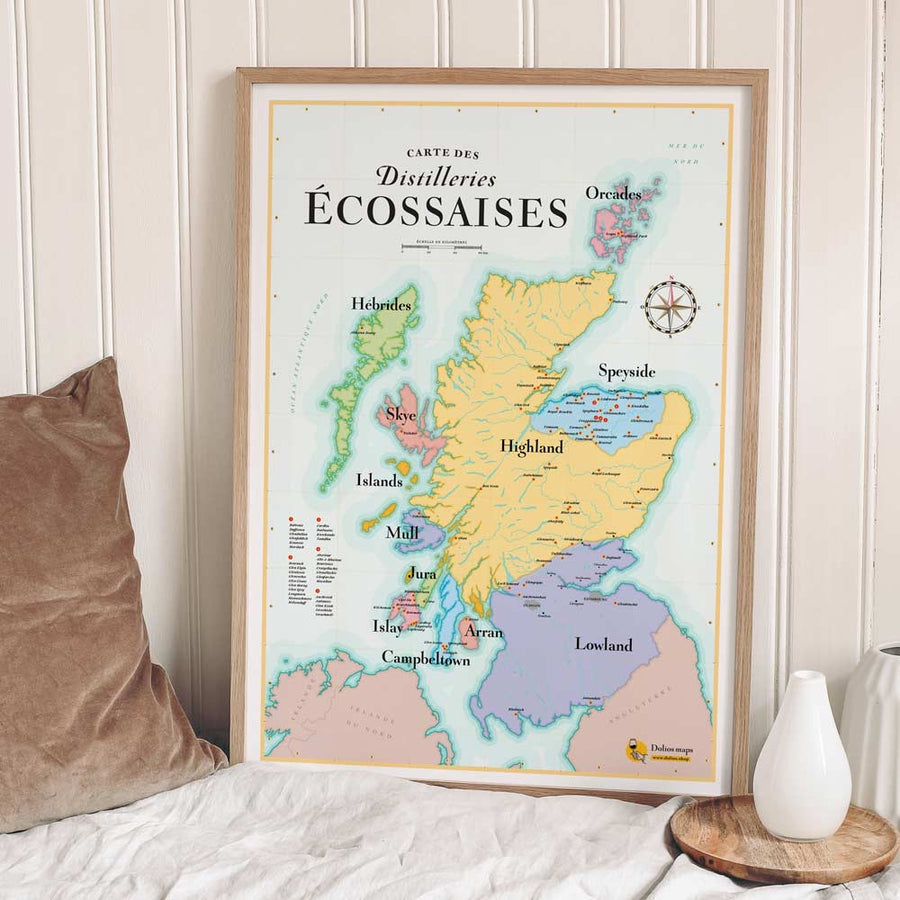 Map of Scotch Whisky Regions & Distillery