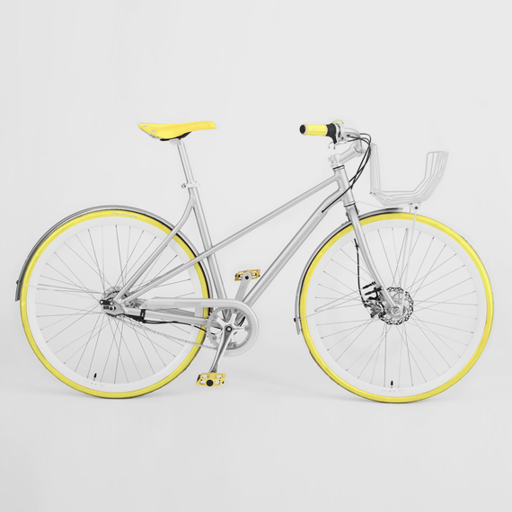 Vé Comfort Bicycle Yellow