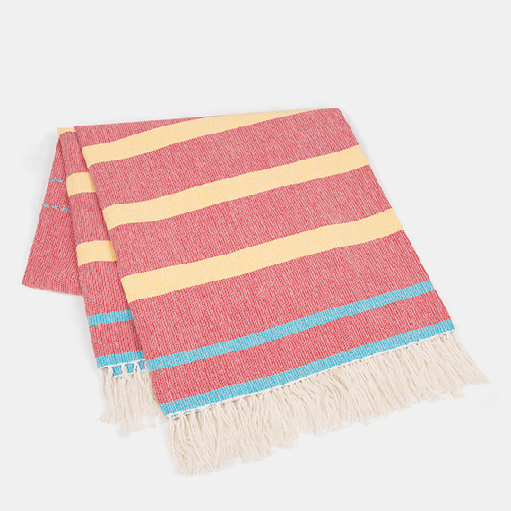 Red Stripey Mexican Rug