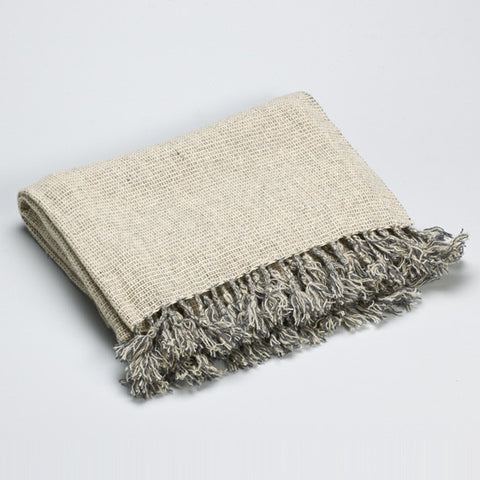 Light Grey Wool Throw