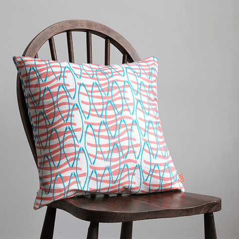 Coral Reflection Cushion