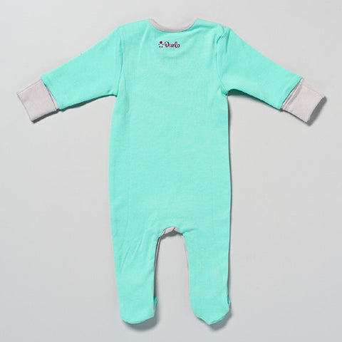 Mint and Grey Sleepsuit