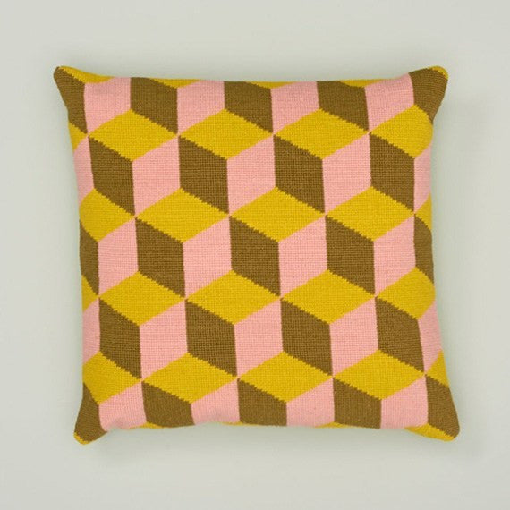 Pink and Yellow Falling Cubes