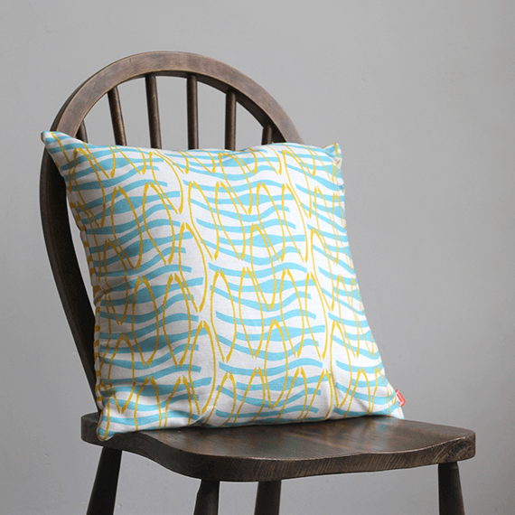 Mustard Reflection Cushion