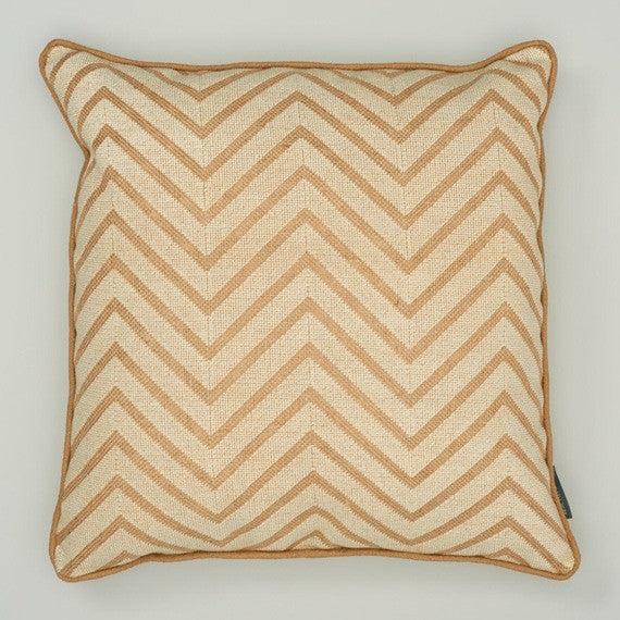 Cream Chevron Cushion