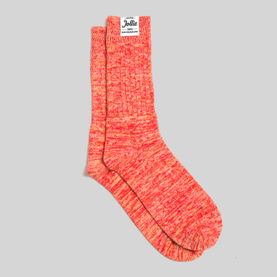 Orange Twister Socks