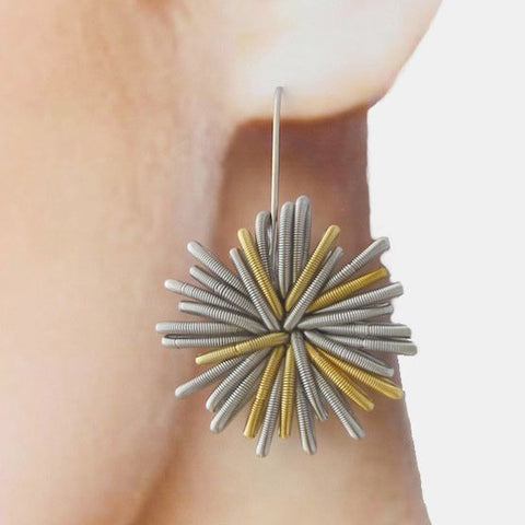 Boucles d'oreilles Doré S&P Gold Earrings