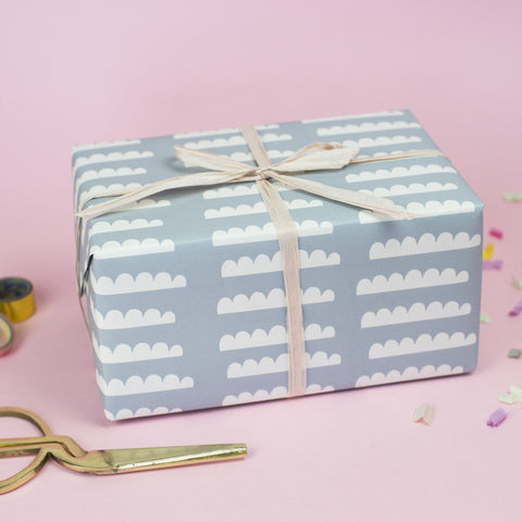 Clouds (Blue ) Wrapping Paper