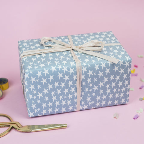Blue Stars Wrapping Paper