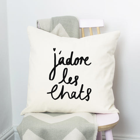 J'adore les Chats Cushion