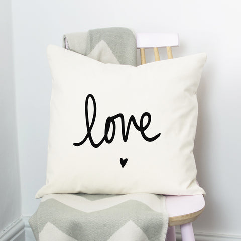 Love and Heart Cushion