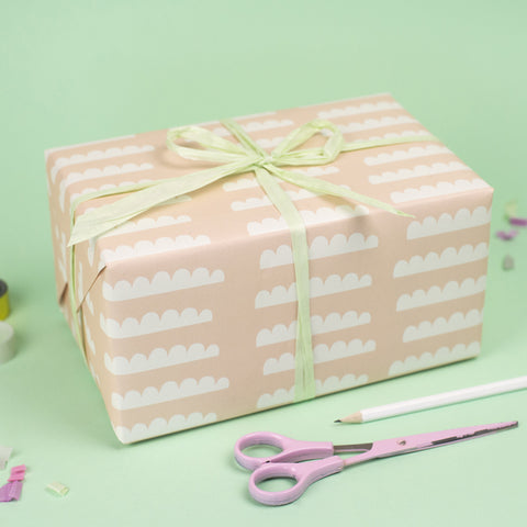 Clouds (Pink ) Wrapping Paper