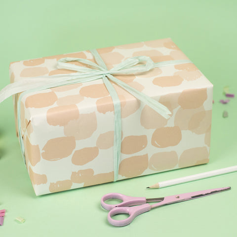 Brush dots Wrapping Paper
