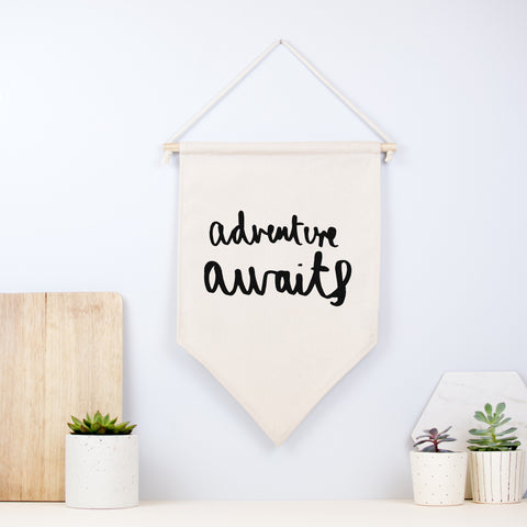 Adventure Awaits Wall Hanging