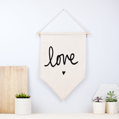 Love And Heart Wall Hanging