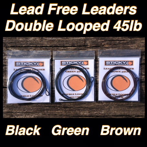 Lead Free Leaders - Double Looped In Various Colours