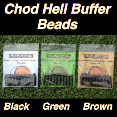 Chod/Heli Buffer Bead - Silt Black, Green & Brown