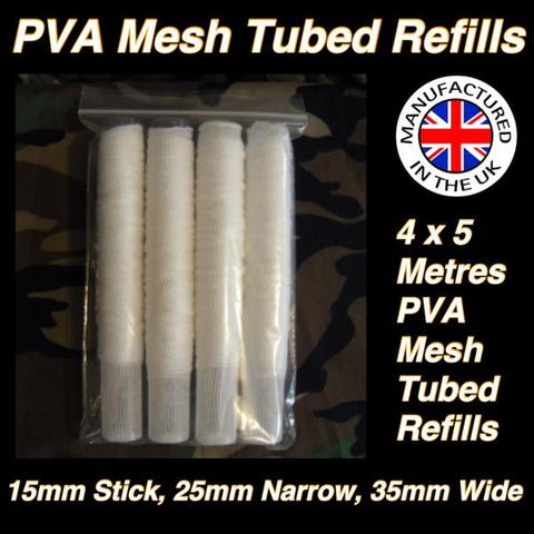Pva Mesh Tubed 4 x 5 Metre Pack - 15mm, 25mm Or 35mm