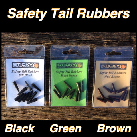 Safety Tail Rubber Packs - Silt Black, Green & Brown