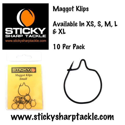 Maggot Klips - Various Sizes Available