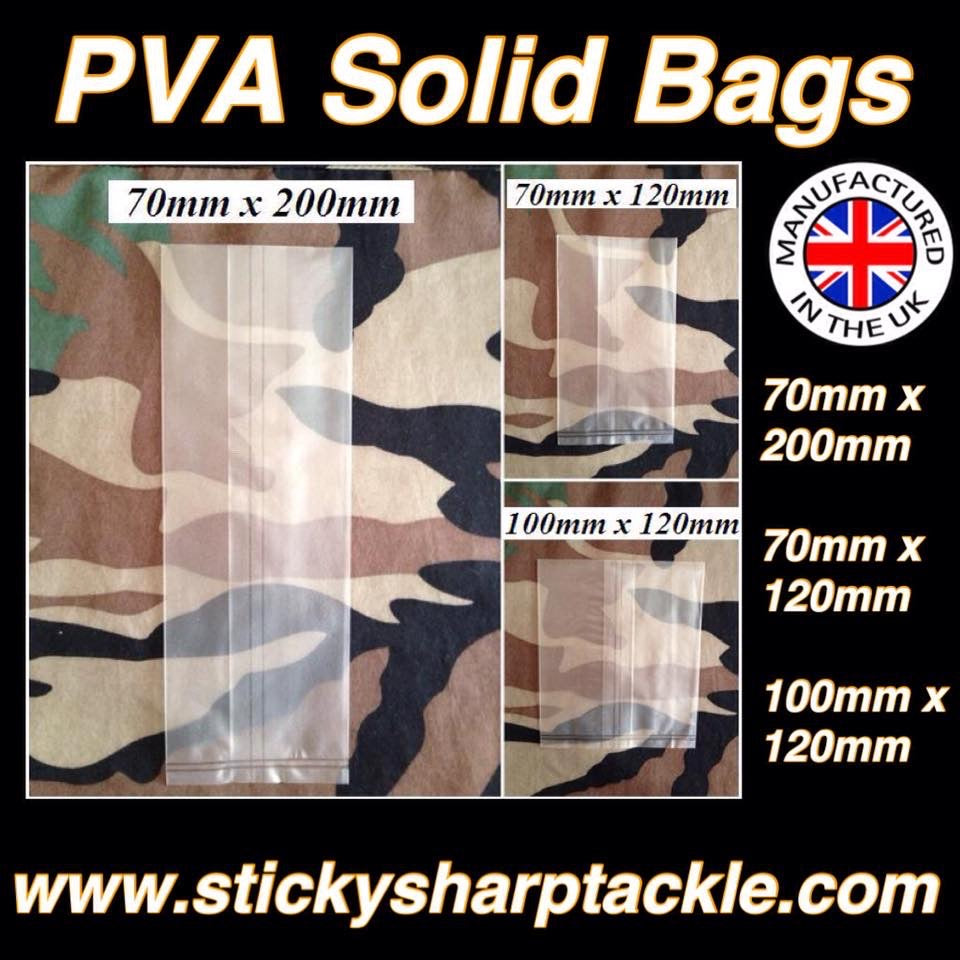 Pva Solid Bags - 10 Per Pack - Various Sizes Available
