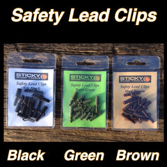 Safety Lead Clip Packs - Silt Black, Green & Brown