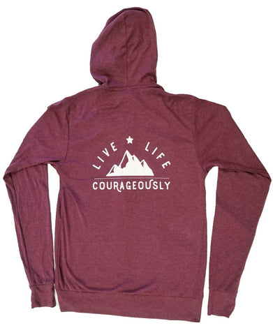 Live Courageously // Zip Hoodie