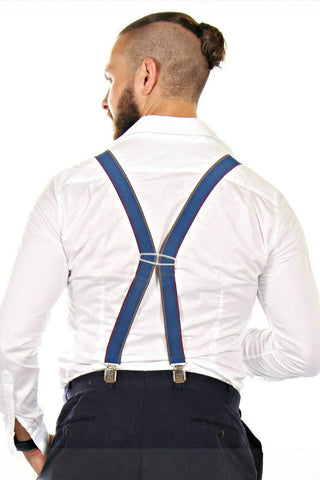 Cool blue vintage suspenders from the '80s