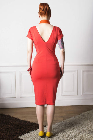 Lovely vintage inspired coral dress from VON 50'