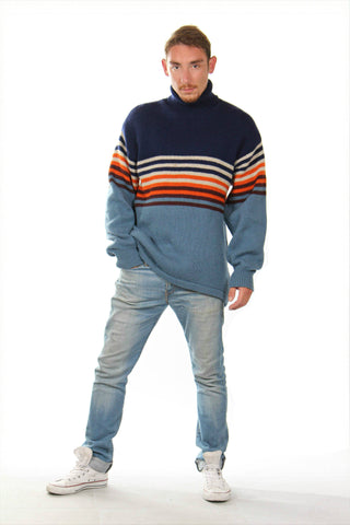vintage,men,knitted,jumper,wool,multi,M, L, XL,1990s,'90s