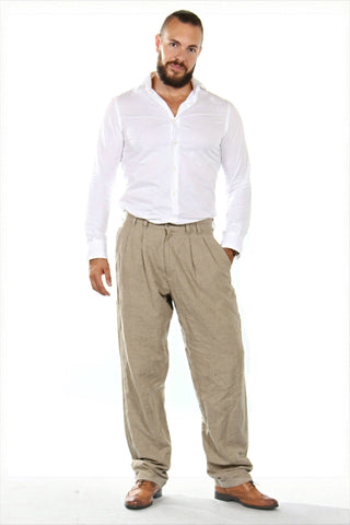 Impressive beige vintage trousers from the '90s