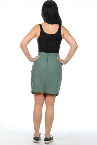 Classic green vintage skirt from the '90s