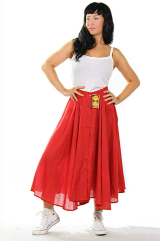 Cute red vintage skirt from the '80s