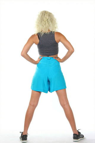 Chic turquoise vintage shorts from the '80s