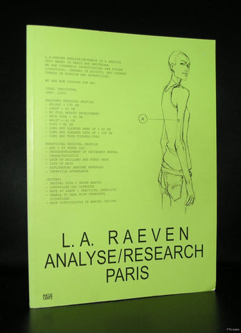 L.A.Raeven , MMK Arnhem # ANALYSE /RESEARCH PARIS # 2010. mint/sealed