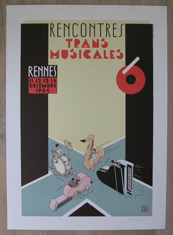 Joost Swarte # RENCONTRES TRANS MUSICALES, Rennes # signed 1984, mint