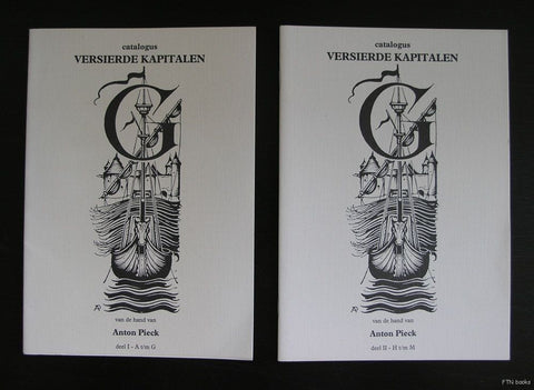 Anton Pieck # VERSIERDE KAPITALEN # set of 2, 1993, nm+
