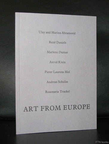 Tate # ART FROM EUROPE # Dumas, Mol, Trckel, Abramovic ao, 1987, mint-