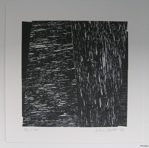 John Carter # COMPOSITION, relief print# 1989, mint, signed numb.