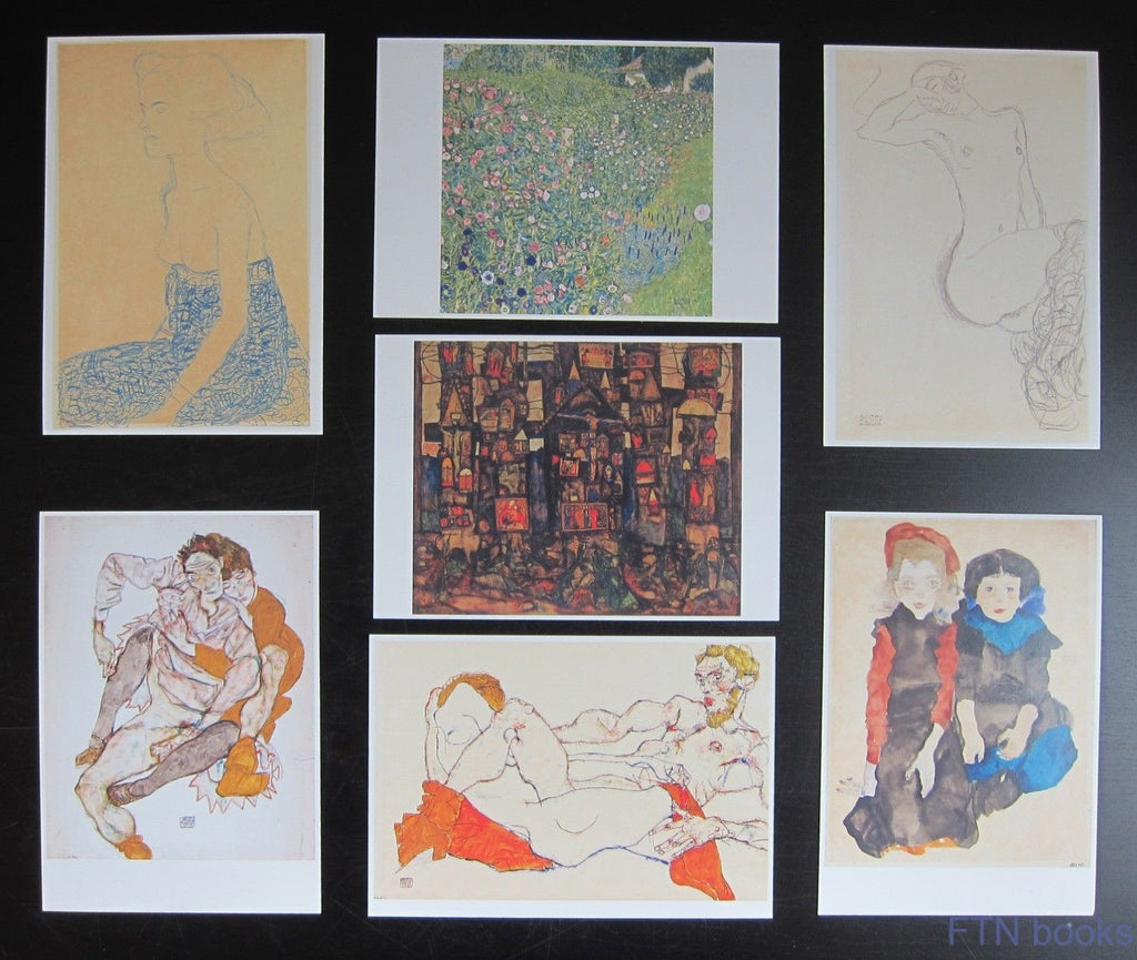 Egon Schiele and Gustav Klimt # set of 7 POSTCARDS # mint