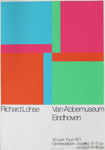 Abbemuseum # RICHARD PAUL LOHSE # poster original silkscreen, 1971, cond. B+++