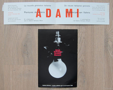 galerie Aujourd'hui and Galleria Schwarz # ADAMI invitations # 1966, nm