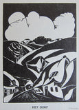 Joris Minne # HET DORP, the Village # original woodblock print,1931, nm