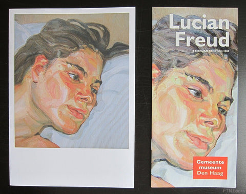 Gemeentemuseum Den Haag # LUCIAN FREUD # 2008, invitation + booklet, Mint
