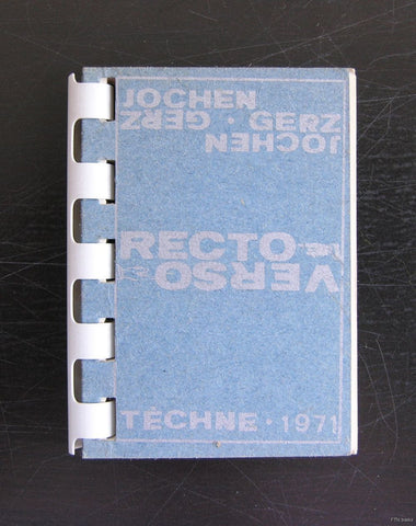 Jochen Gerz # RECTO-VERSO # Techne, 1971, nm