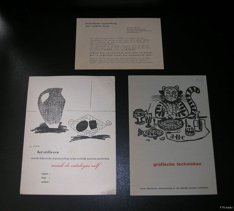 Stedelijk Museum Amsterdam #3 small PUBLICATIONS, educational department # Sandberg, mid 50