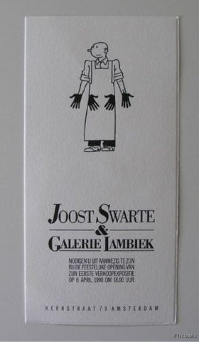Joost Swarte # LAMBIEK # invitation,diepdruk, nm+,1990