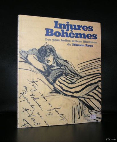 Felicien Rops # INJURES BOHEMES # illustrated letters, 2001, nm++